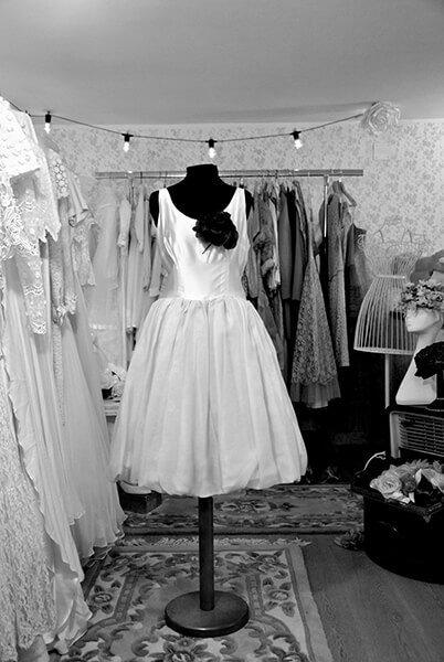 abito da sposa vintage largo
