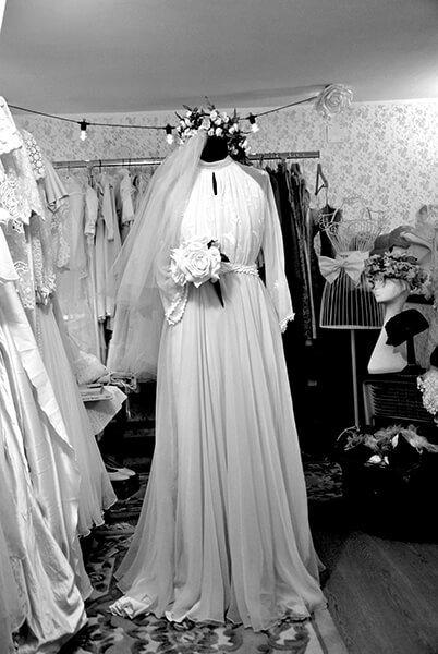 abito da sposa vintage lungo