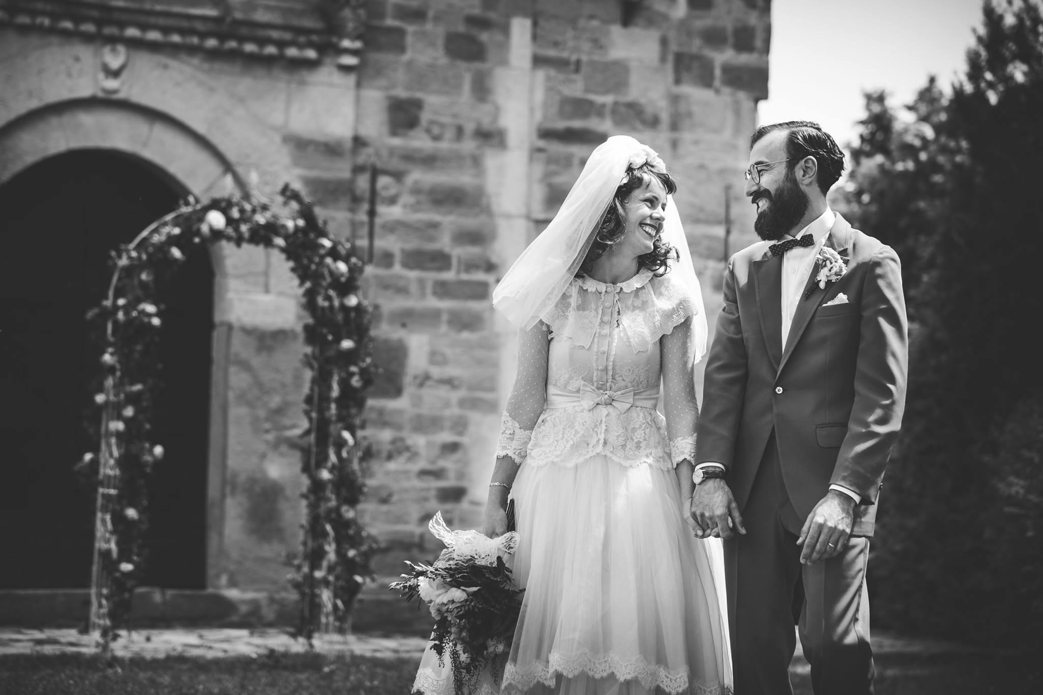 cha.rly vintage matrimonio in foto in bianco e nero
