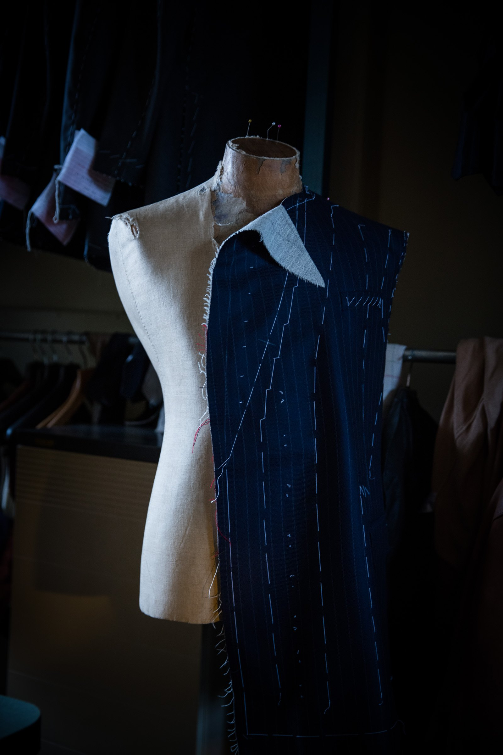 Another of Richard Shultz Image of a tailors dummy taken in store  for the new Stewart Christie & Co website