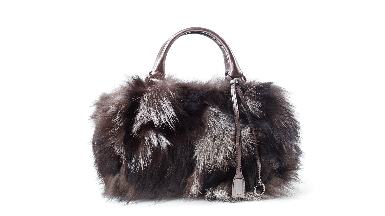 borsa con pelliccia