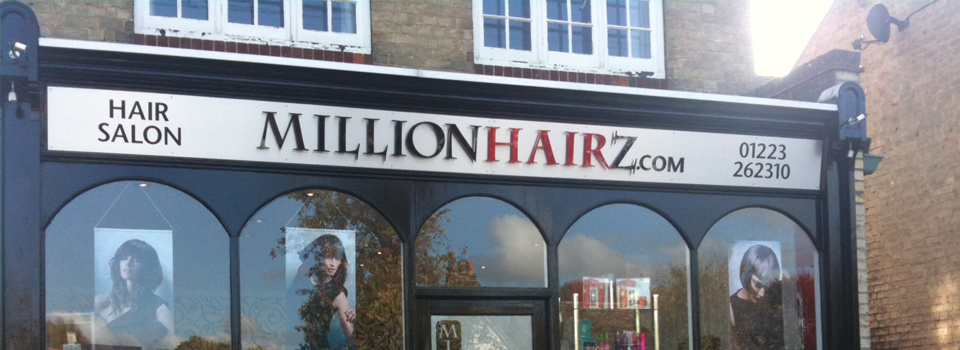 Window graphics in a hair salon