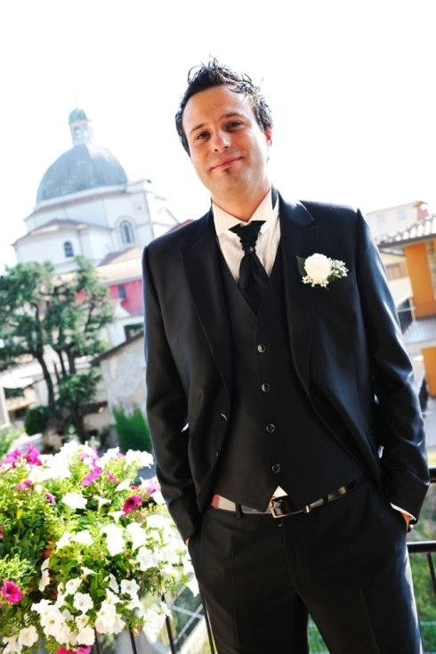 Foto ritratto sposo