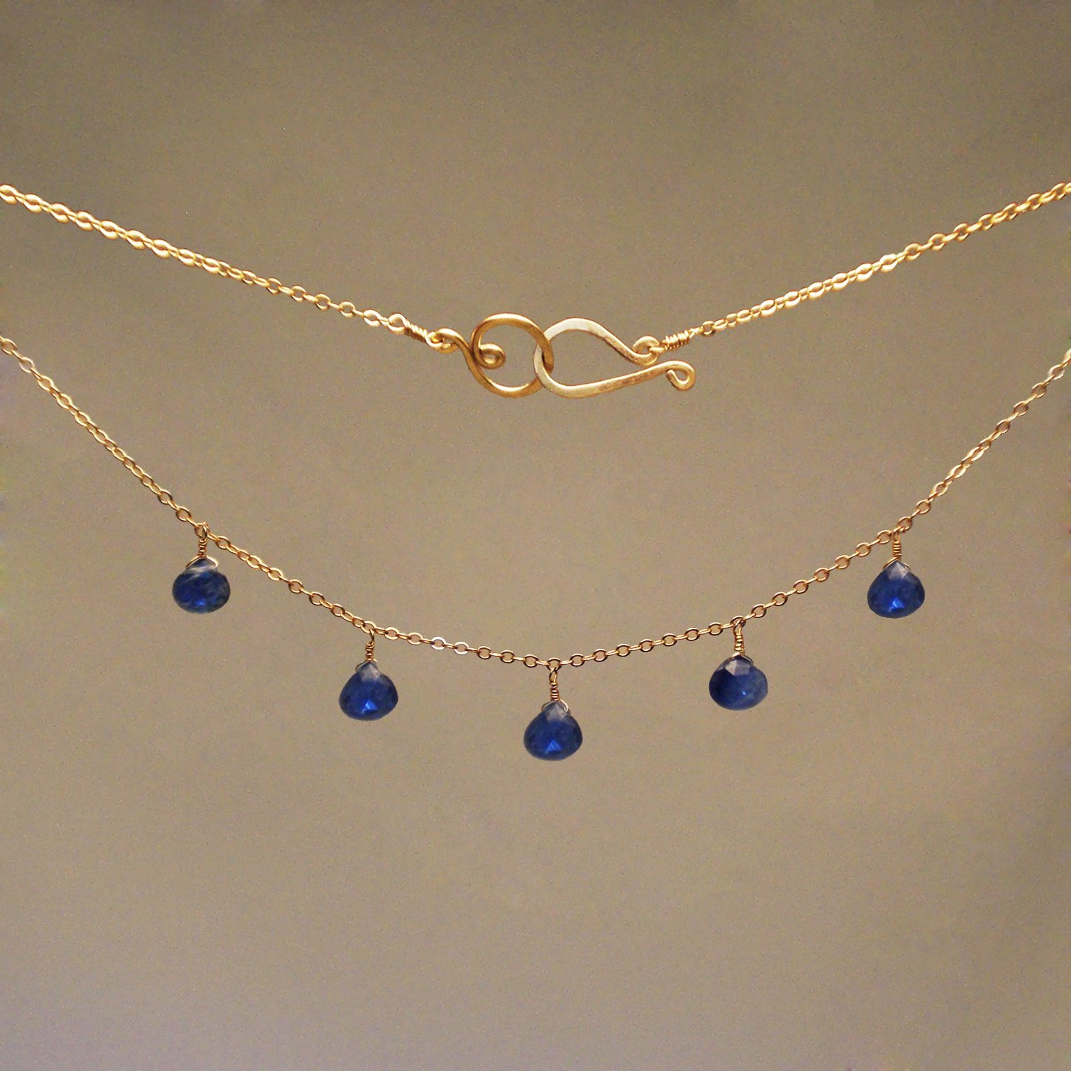Kyanite Gem Drop Necklace