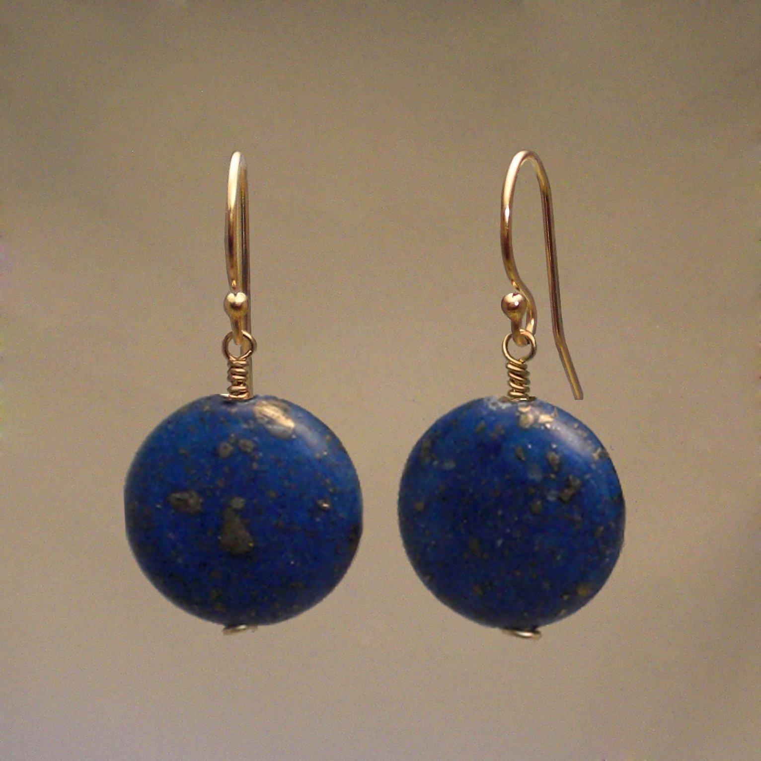 Lapis Lazuli Gem Drop Earrings