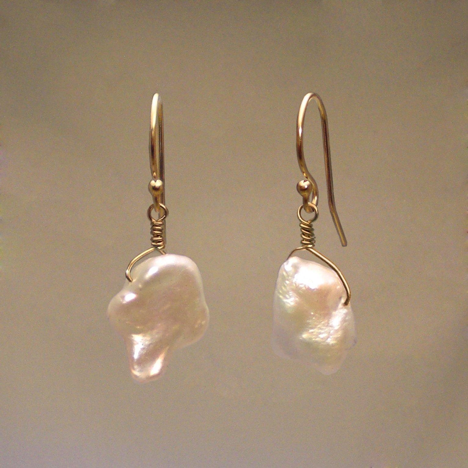 Pearl Gem Drop Earrings