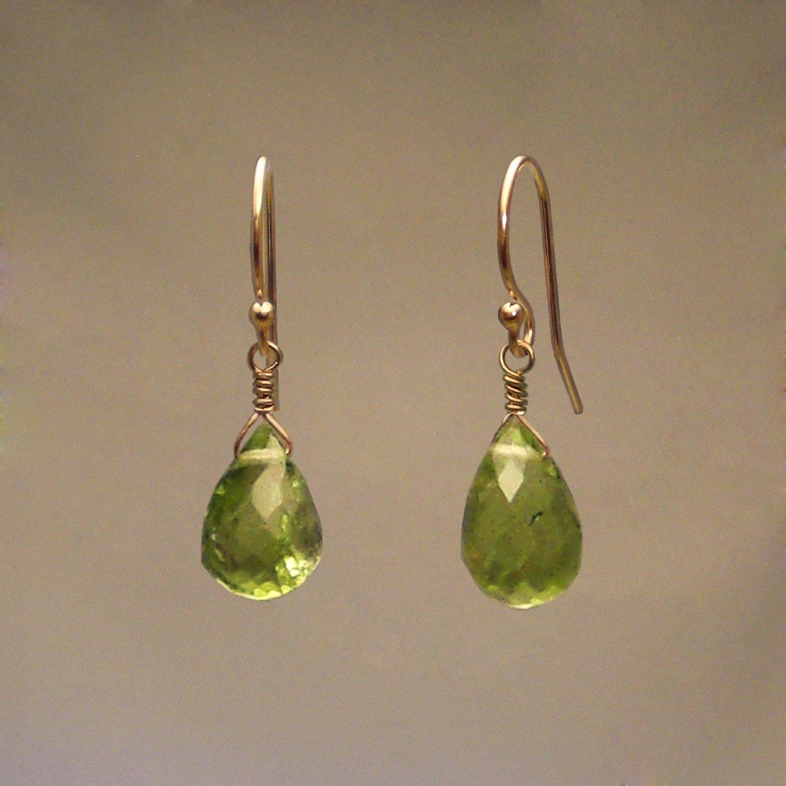 Peridot Gem Drop Earrings