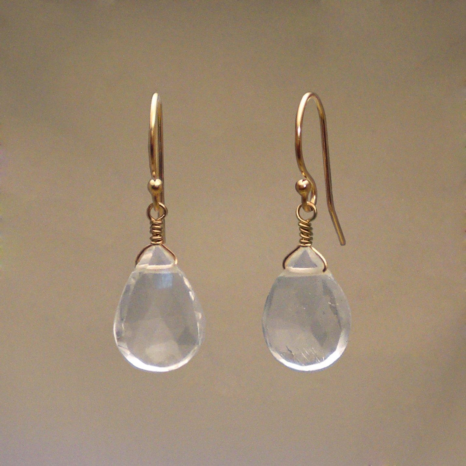 Quartz Gem Drop Earrings