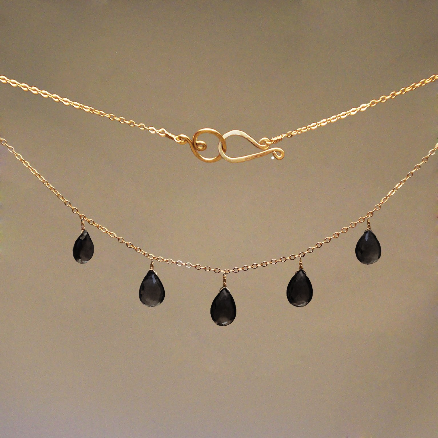 Spinel Gem Drop Necklace