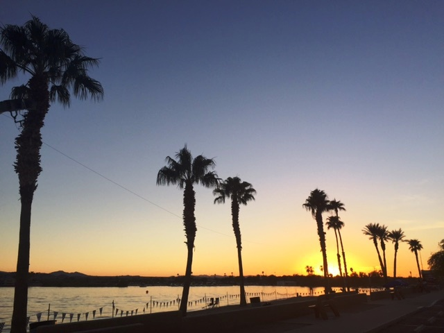 Sunset on ocean in Lake Havasu City