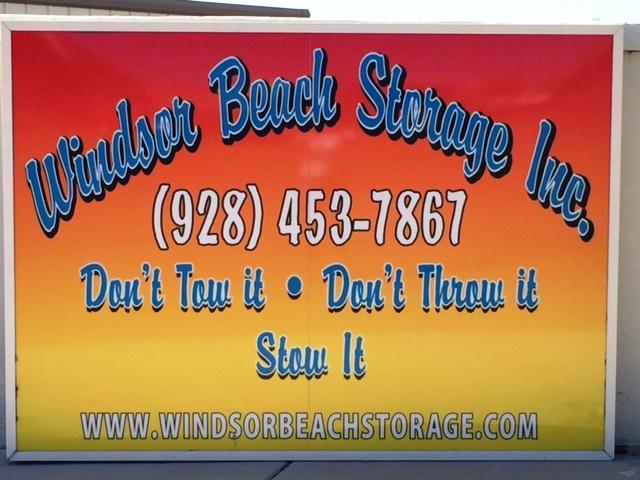 Windsor Beach Storage Billboard sign