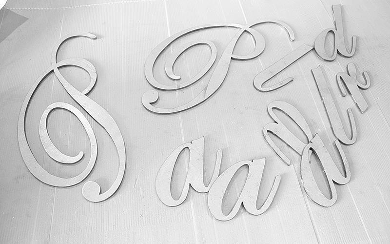 Lettere in ferro