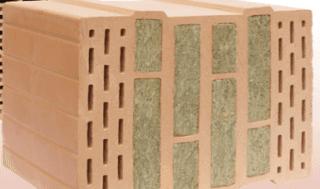 blocchi isolati con lana di roccia