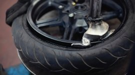 Reifenabbau; Reifen-Reparatur-Strings; Eisenfelgen