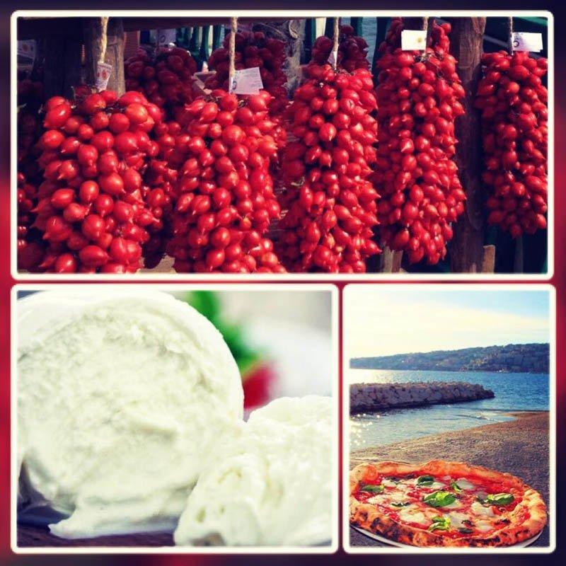 grappoli di pomodorini e mozzarella napoletana