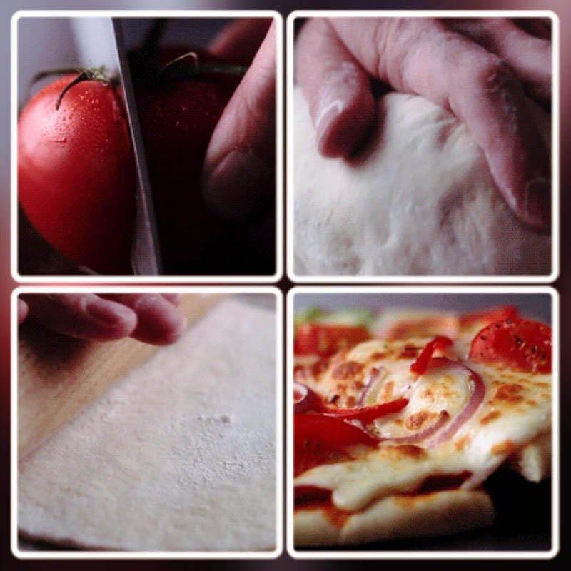 fasi di preparazione della tipica pizza napoletana