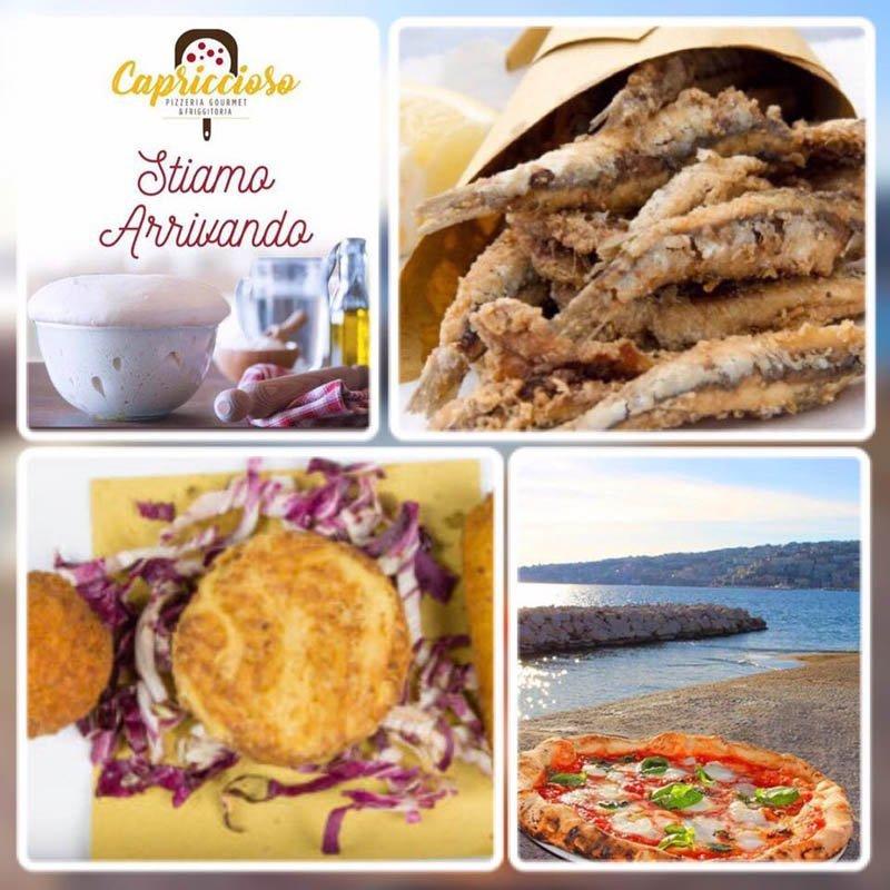 frittura di pesce e altre immagini tipiche della tradizione napoletana