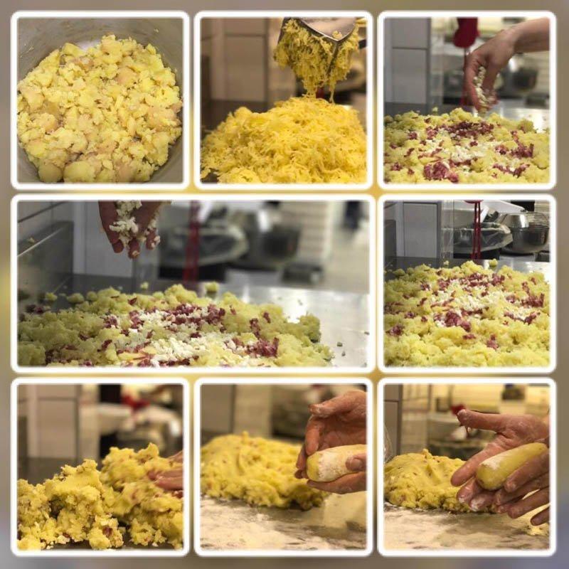 fasi di preparazione della pasta fatta a mano