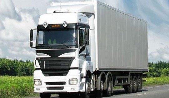 Camion bianco di trasporto