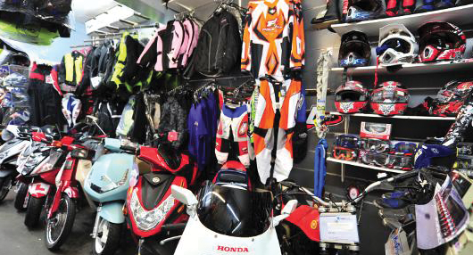 helmets and jackets