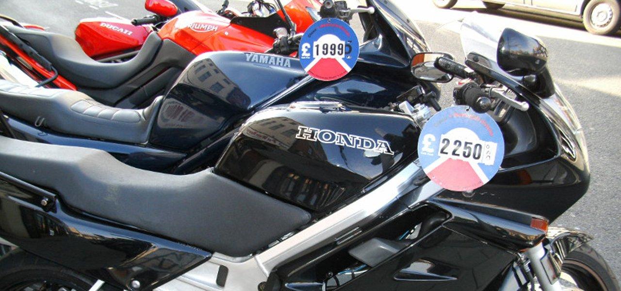 fleet of motorcycles