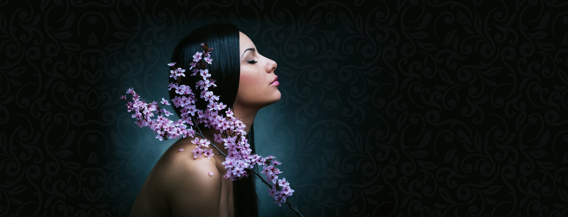 a girl with lavender flowers