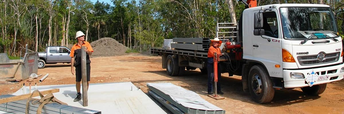 fnq crane trucks loading slider