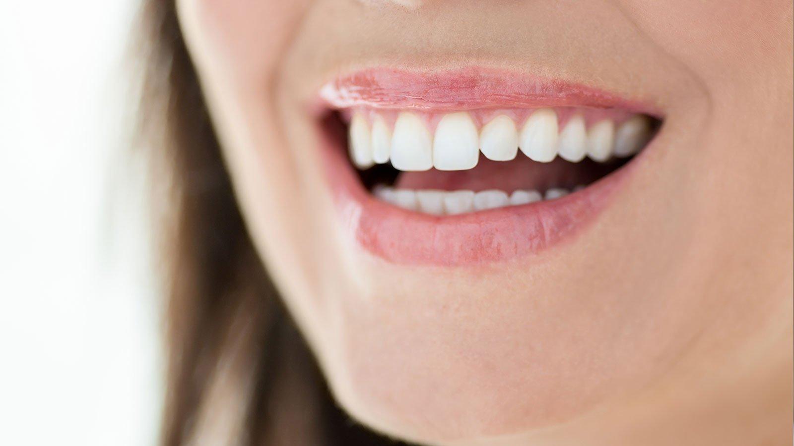 a woman's mouth