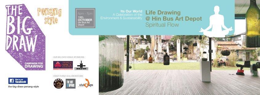 The big draw week 3- life drawing @ hin bus art depot