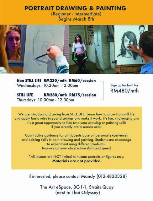 The Art E Space Portrait Drawing and Painting Workshop Art Classes in Malaysia