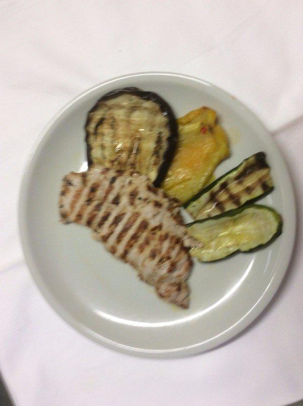 verdure e pollo alla griglia
