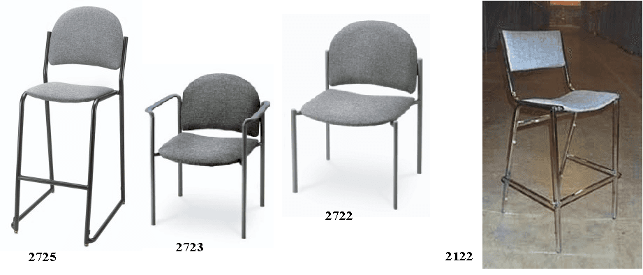 Stacking Expo Stool and Chairs