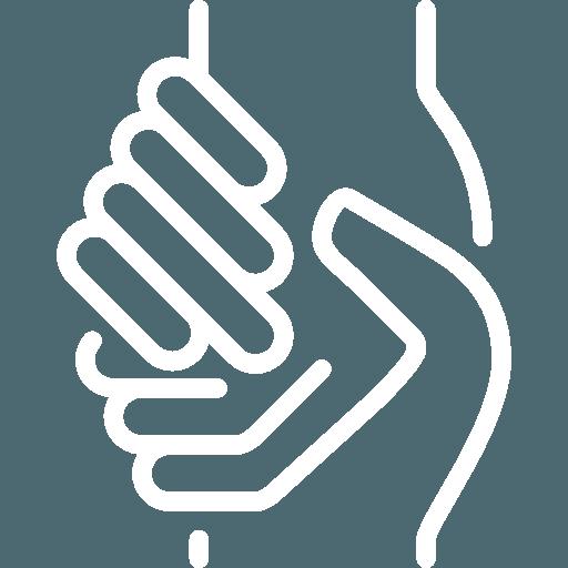 icona stretta di mano