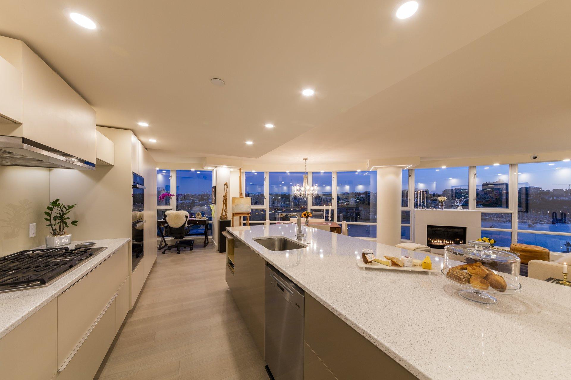 1033 Marinaside Yaletown Vancouver Kitchen Design Renovations