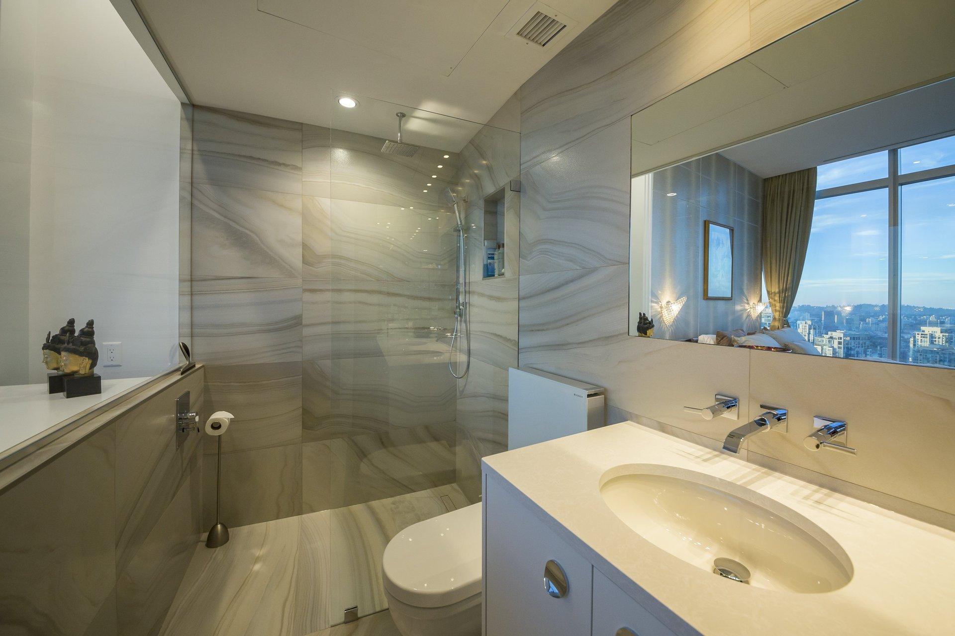 Sheraton Downtown Condo Bathroom Renovation Renovations Contracting Work Interior Design