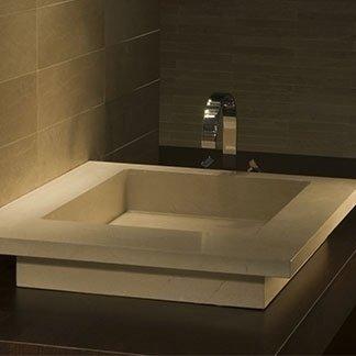 lavabo in pietra e marmo