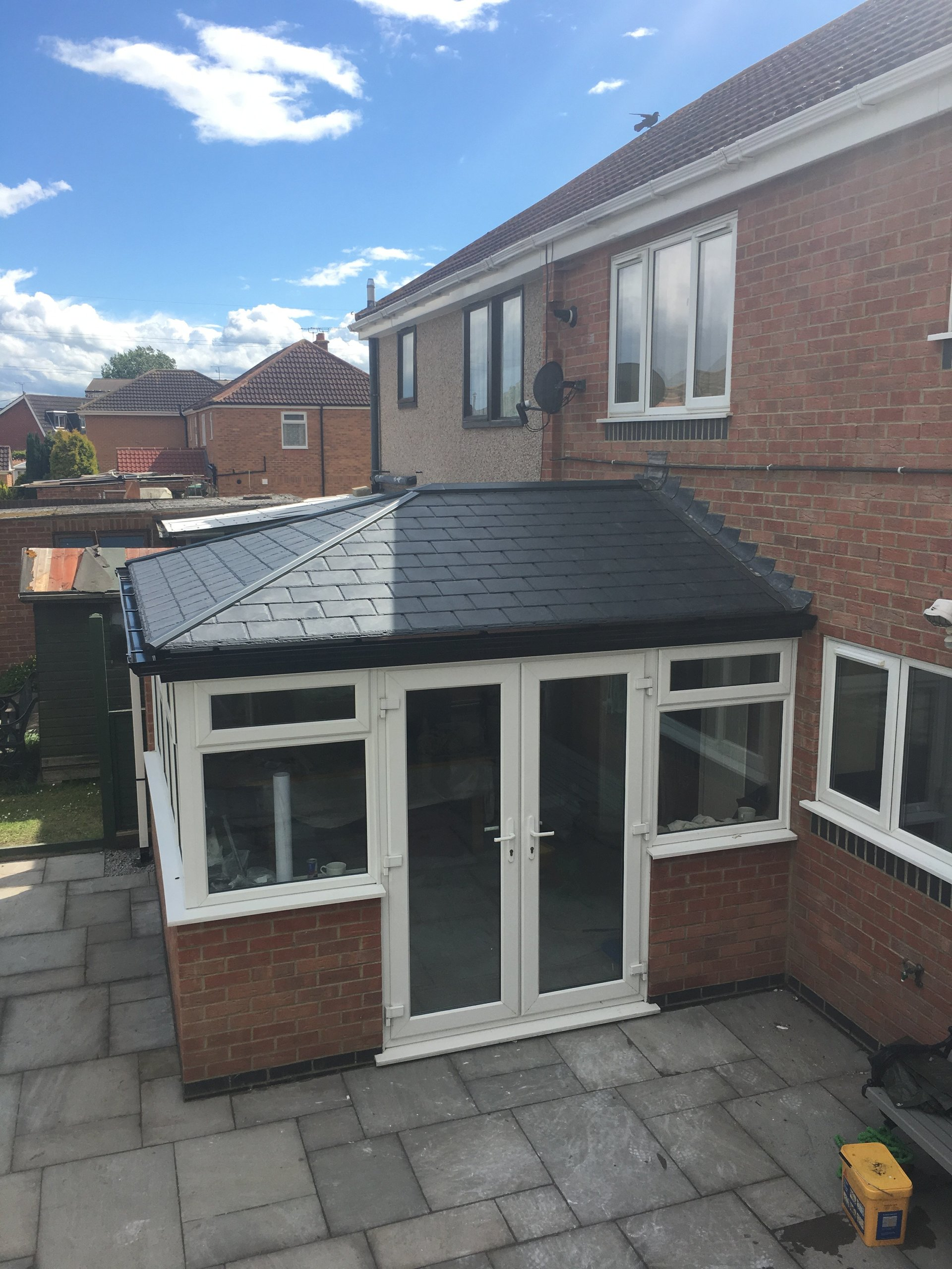New roof and guttering
