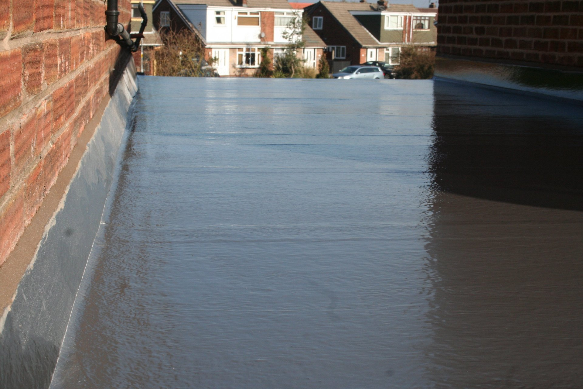 Fibre glass roofing