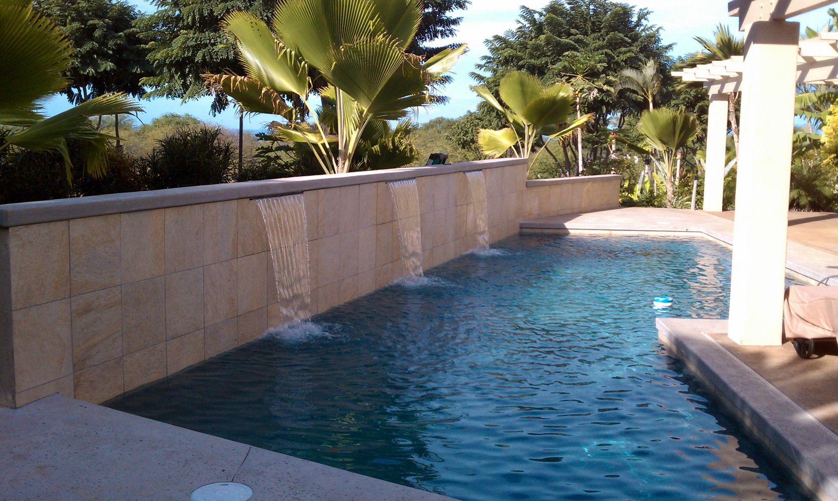 Swimming pools built by maui 39 s pool pro swimming pool for Swimming pool contractors
