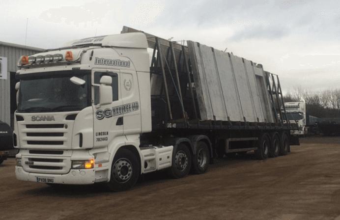 Fleet of haulage vehicles