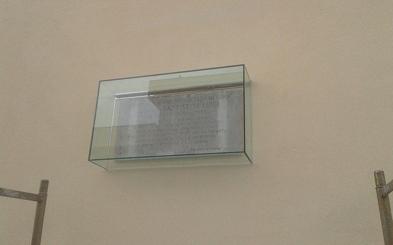 Teca in vetro stratificato