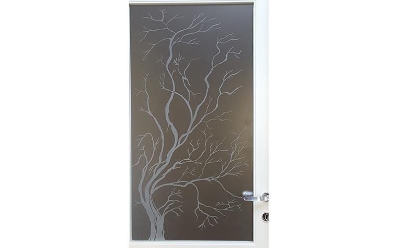 Porta con decorazione vetro