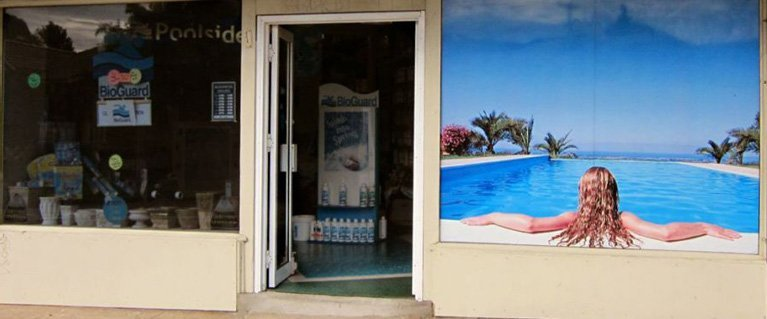 Newcastle Pool Service shop front view