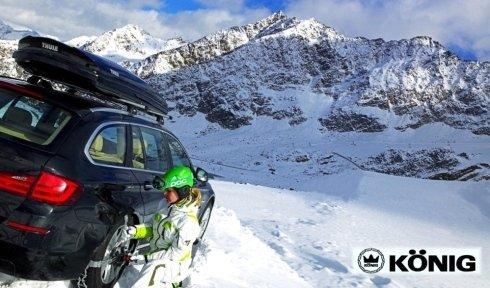 Gomme da neve in montagna