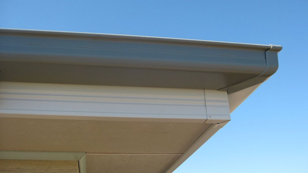 all oz roof plumbing grey roof gutter installed