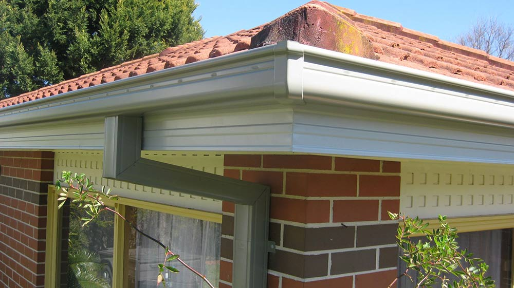 all oz roof plumbing light white roof gutter installed