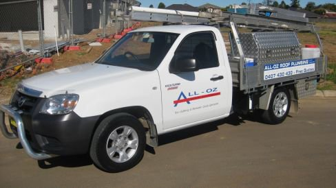 all oz roof plumbing truck with gutter installation equipment