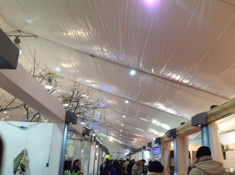 Soffitto degli allestimenti interni per eventi