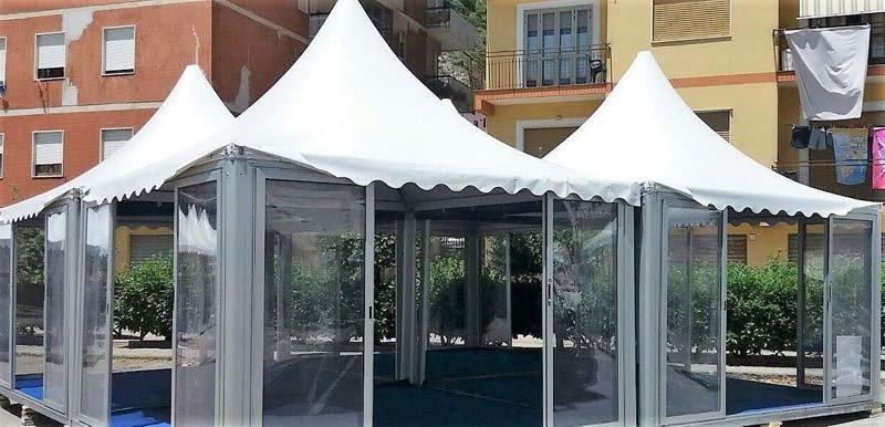 Entrata della pagoda per feste ed eventi