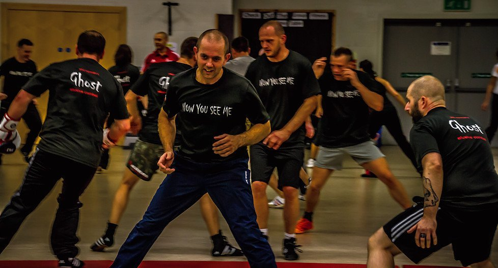 man enjoying the workout session